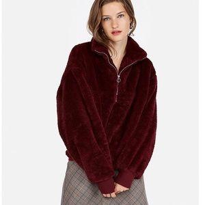 Express One Eleven Fleece Quarter-zip sweatshirt